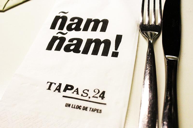 Barcelona - Tapas 24 menu