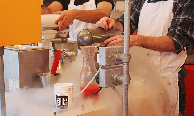 Chin Chin Labs Nitrogen Ice-cream - Closed up