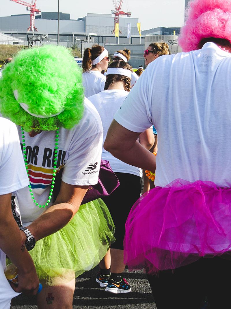 Colour Run London - Green and pink tutu