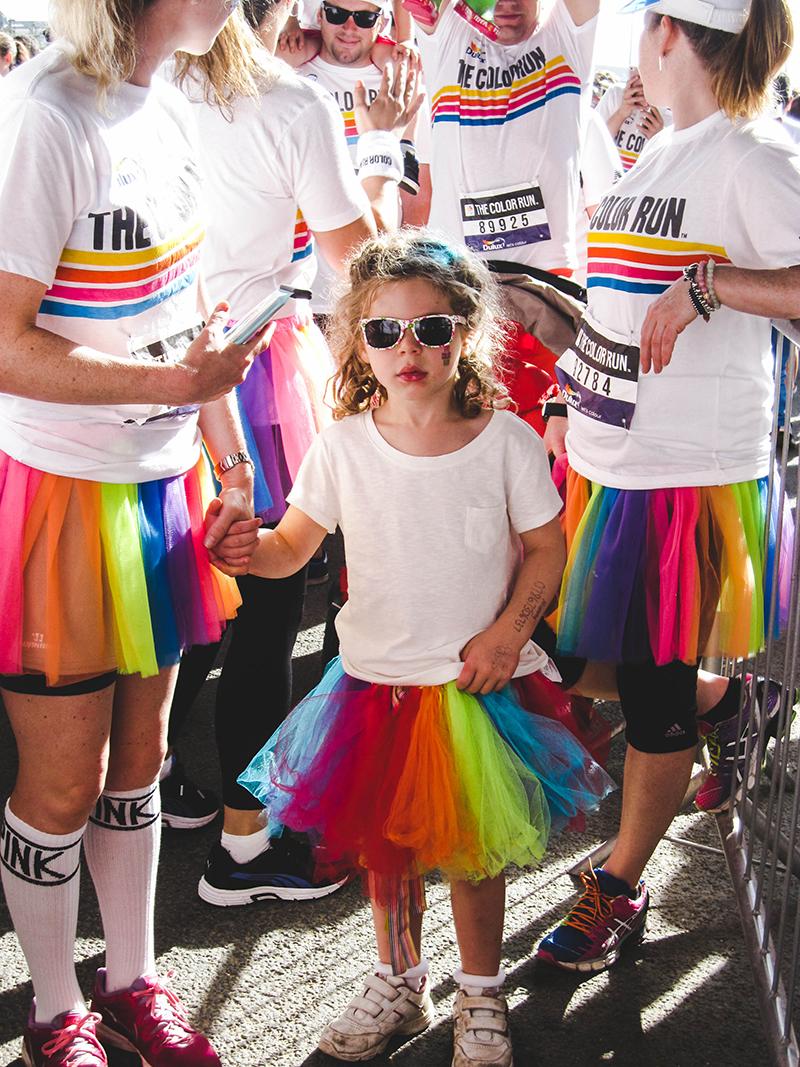 Colour Run London - Little girl