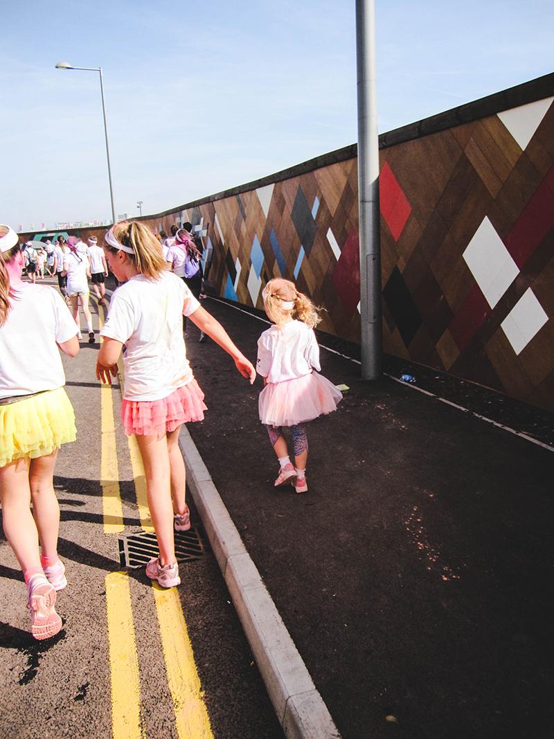 Colour Run London - Little girl 2