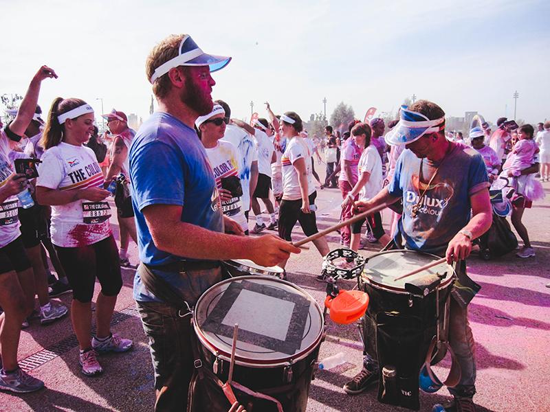 Colour Run London - Drumers