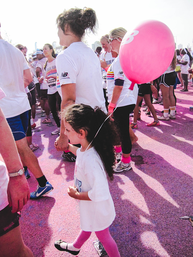Colour Run London - Little girl 3