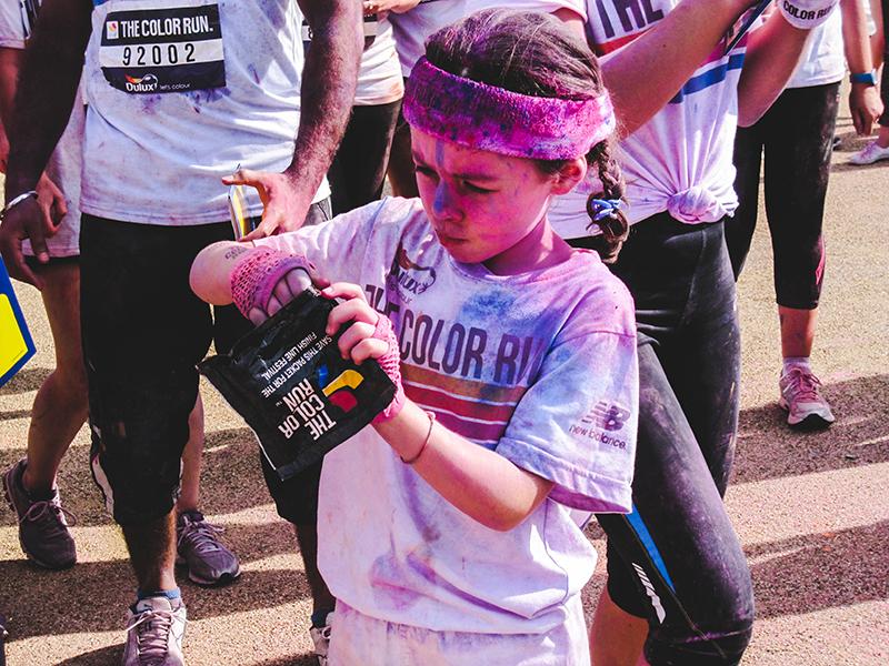 Colour Run London - Little girl 4