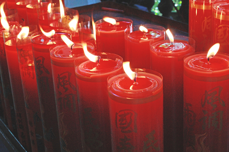 Living in Taipei City, Taiwan - Candles