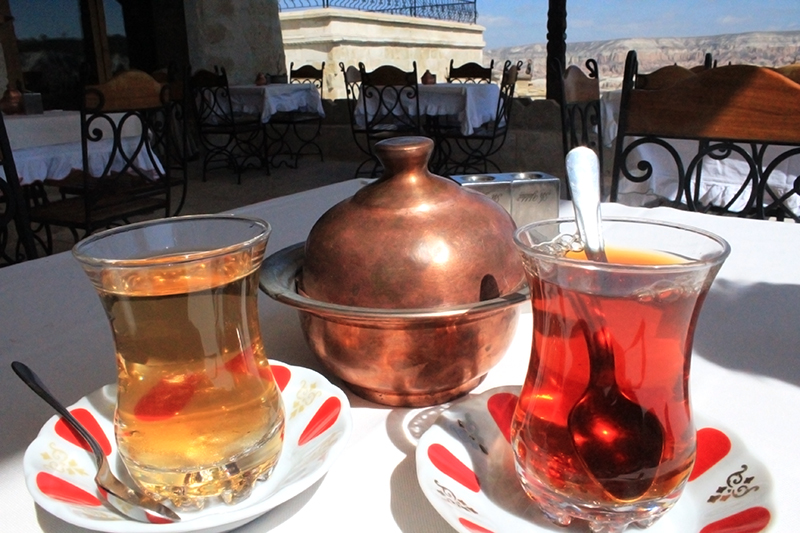 Cave Hotel in Cappadocia, Turkey - Tea