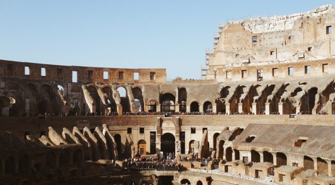 Roma in Orange and Blue